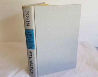 Steinbeck John, The Winter of Our Discontent, Vintage Hardcover, 1961, Viking Press