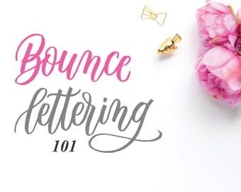 Bounce Lettering 101 (Guided worksheet set)