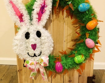 CLEARANCE Wreath, Easter Wreath, Bunny Wreath, Easter Bunny Wreath, Spring Wreath, Easter Decor, Easter Eggs, Wreath, Easter Front Door