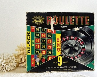 vintage empty Roulette game box collectible game box