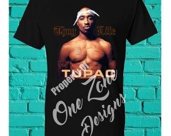 2pac Thug Life with Bandana - Only God Can Judge Me