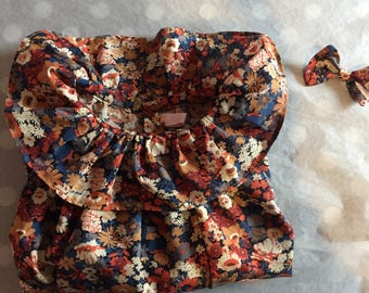 Blouse / tunic with long sleeves and frill collar - liberty Thorpe