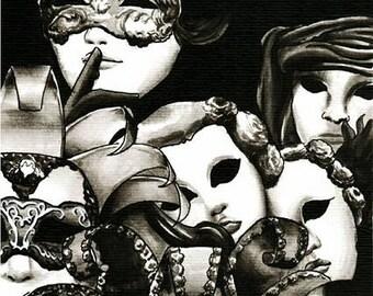 Harlequin fantasy ilustration