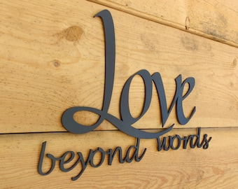 Metal Wall Art, Words, Live, Laugh, Love, Wall Decor