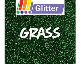 Siser Glitter Heat Transfer Vinyl - Iron On - HTV -  Grass