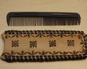 Hand made leather Comb case Comb holder high quality leather product