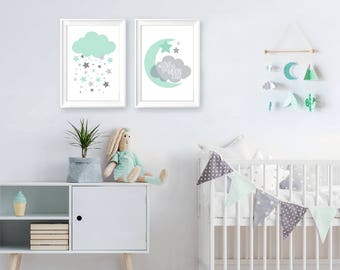 scandinavian nursery, baby room Scandinavian Style, scandi nursery, nursery nordic baby mobile, wall hanging mobile, scandi baby gift
