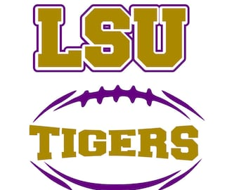 LSU tigers football svg; svg file; png file; dxf file; jpeg file; cricutfile; silhouette file