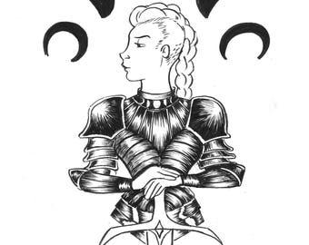 ORIGINAL Inktober Day 22: Warrior Witch