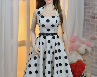 50s Dress for Iplehouse SID, EID BJD