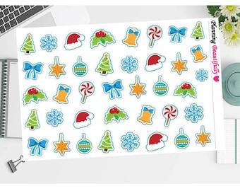 Christmas Stickers, Erin Condren Planner Stickers, Happy Planner Stickers, Planner Stickers, Christmas Decorations, Eclp Stickers,