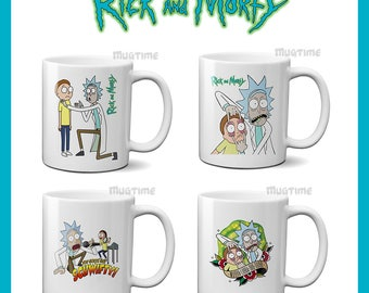 Rick and Morty Mug Cup Coffee Tea - Funny - Netflix Series - 330ml Nice Gift - Ceramic