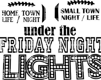 Friday Night Lights Svg/ School Spirit Svg/ Football Svg/ Sports Cut File/ Football Cut Files/ Cricut Football Svg/Cricut Football Cut Files