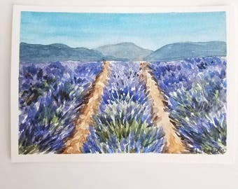 Original Lavender Art - Original Lavender Painting - Lavender Art - Lavender Fields Painting - French Art - France Art - Lavender Flowers