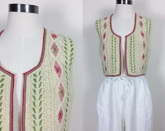 Vintage handmade wool vest size S