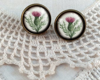 Thistle Stud Earrings