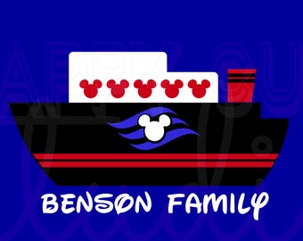 Personalized Disney Cruise Ship Personalized Vacation Cruise Matching Family Dad Father Son  Iron On Decal 4 Shirt Fish Extender  131