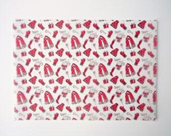 Christmas Hats, Gloves & Scarves Print A4 Vellum