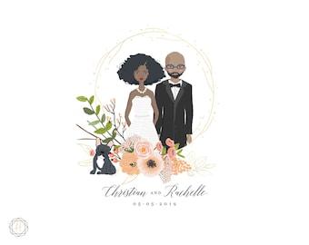 Custom Logo Design, Wedding Monogram, Wedding Logo, Illustrated Logo, Vintage Stamp Logo, Photography Logo, Personalized Logo, #IPP