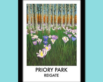 Priory Park, Reigate Travel Poster