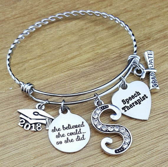 Speech Therapist Gift Speech Therapy Gift Graduation Gift College Graduation Graduation Gift for Her Senior Senior 2018 Gifts She Believed