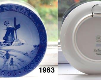 Vintage Royal Copenhagen Christmas Plates. 1963-1968. Kongelig Porcelæn. Danish Tradition Heirloom. Made in Denmark. Collectors Item.
