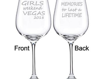 Girls Weekend Glasses, Girls Trip, Girlfriends, Girlfriends Weekend, Girlfriend Get Away, Friend Gift, Friend, Weekend Get Away, Vacation,