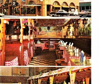 Vintage 50s El Amigo Cafe Los Angeles CA Restaurant Real Photo Postcard Unposted Mid Century Travel Souvenir