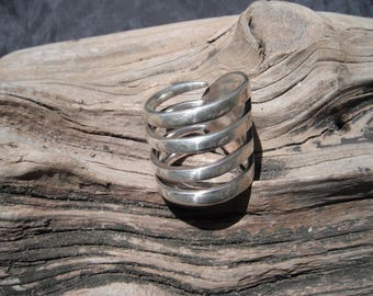 Sterling Silver Funky Fork Ring