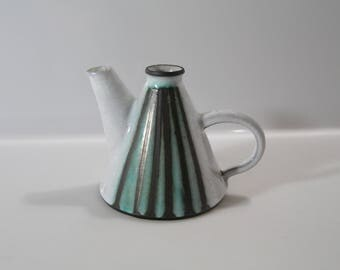 Unusual little can, jug by Böttger Keramik Werkstätten - blue BKW, WGP, West German Pottery