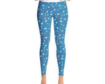 Sushi Yoga Pants - Yoga Leggings - Yoga Pants - Cute Yoga Pants - Sushi Leggings - Exercise - Yoga Pants - Sushi Lover - Sushi Gift - Sushi