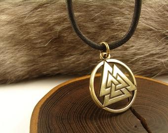 Valknut,  Norse Pendant,  Scandinavian Jewelry, Asatru, valknut necklace, Viking jewelry, viking talisman, valknut jewelry, nordic