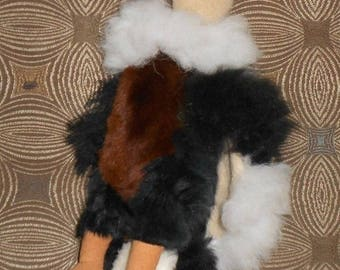 Alpaca Condor Plush - Peruvian Stuffed Animal Rare Handmade Leather Fur