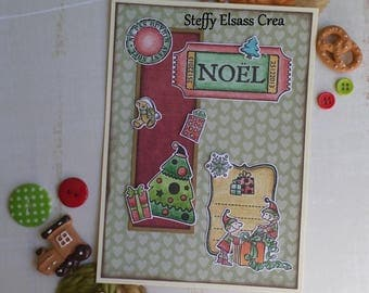 Map little Santa elves and Christmas gifts