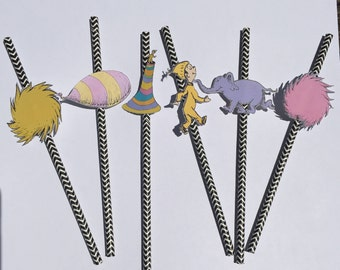 Oh, the places you'll go by Dr.Seuss Party favors // Straws (Set of 12)