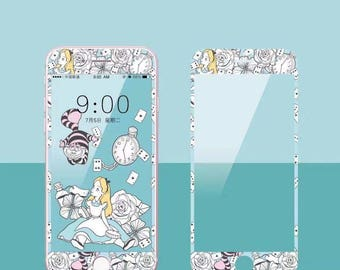 Alice in the Wonderland Princess Phone Screen Protector Sticker iPhone 6 6s 7 Plus