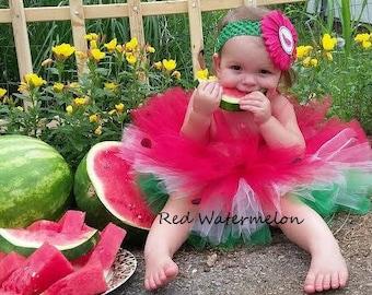 One in a Melon Tutu // Watermelon Tutu // Made to Order // Pink and Red Watermelon // Red Watermelon // Pink Watermelon // 1st Birthday Tutu