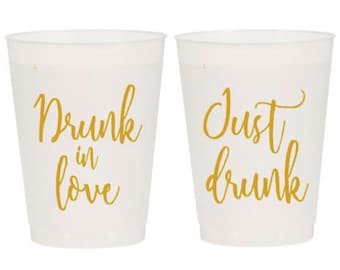 Just Drunk/Drunk in Love Bachelorette Party Cups (12)