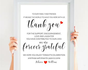 Modern Wedding Thank You Sign Thank You Note Rustic Thank You Wedding Calligraphy Font In PDF DigitalDownload SKU# CWS305_ 3122C