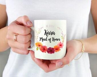 Bridesmaid Coffee Mug - Bridesmaid Gift - Bridesmaid Proposal Gift - Personalized Bridesmaid Gift - Wedding Party Gift - Wedding Titles