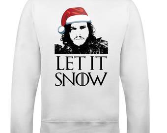 Christmas Let It Snow Mens Funny Game Of Thrones Sweatshirt Ugly Jumper Xmas GOT