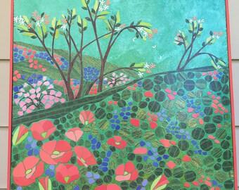 Mosaic Wall Art - Field of Flowers