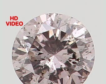 2.20 MM 0.042 Ct Natural Loose Diamond Cut Round Shape Brownish Pink Color N3026