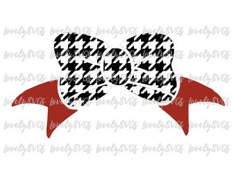 Instant Download SVG Studio3 - Alabama Houndstooth Bow  - Silhouette Cricut File