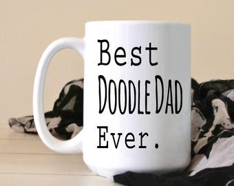 Best Doodle Dad Ever Coffee Mug - Golden Doodle Lover - Gift For Christmas - Cute Coffee Mug - Goldendoodle Dad