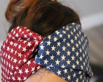 Turban Headband - Bandana Headband Bandana Headband - Turban Headband - Head Wrap - American Spirit