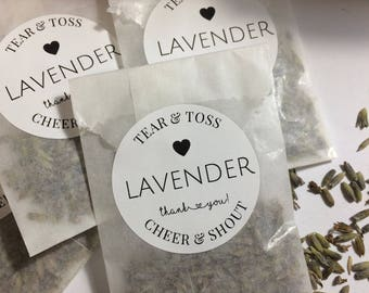 Lavender Wedding Favors in Display Box, Eco-Friendly, Ready to Ship, Lavender Toss Favors, Just Married, Floral Fall Weddings, Classic