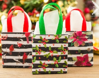 Christmas Gift Bags - 1:12 Dollhouse Miniature