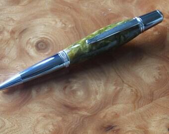 """Hand Made Acrylic Rollerball Pen """"California Gold"""""""