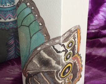Butterfly Wings Watercolored Paper Luminary